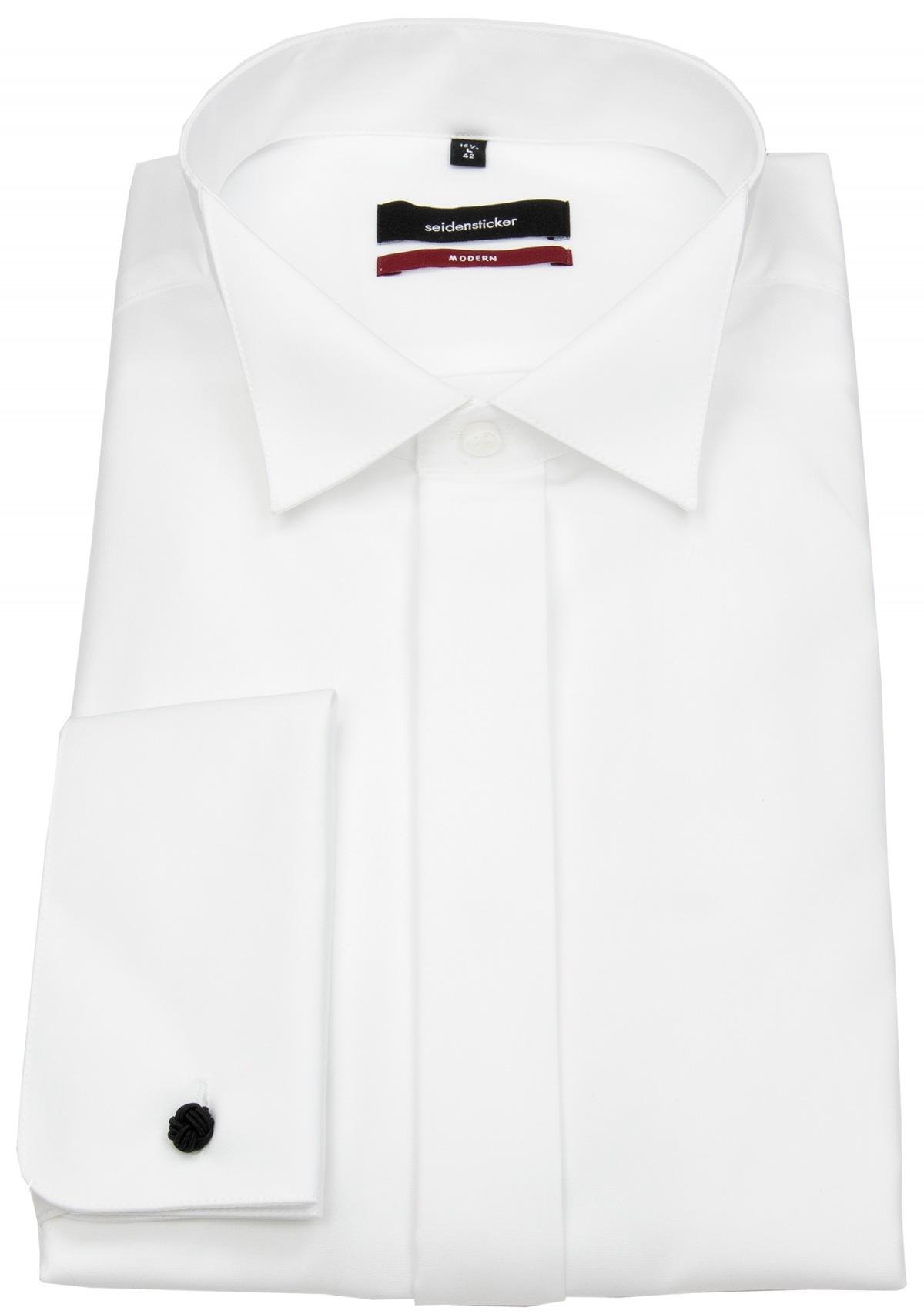 Seidensticker Modern Langarm Mit Kl/äppchen-Kragen Umschlagmanschette B/ügelfrei Camisa de Vestir para Hombre