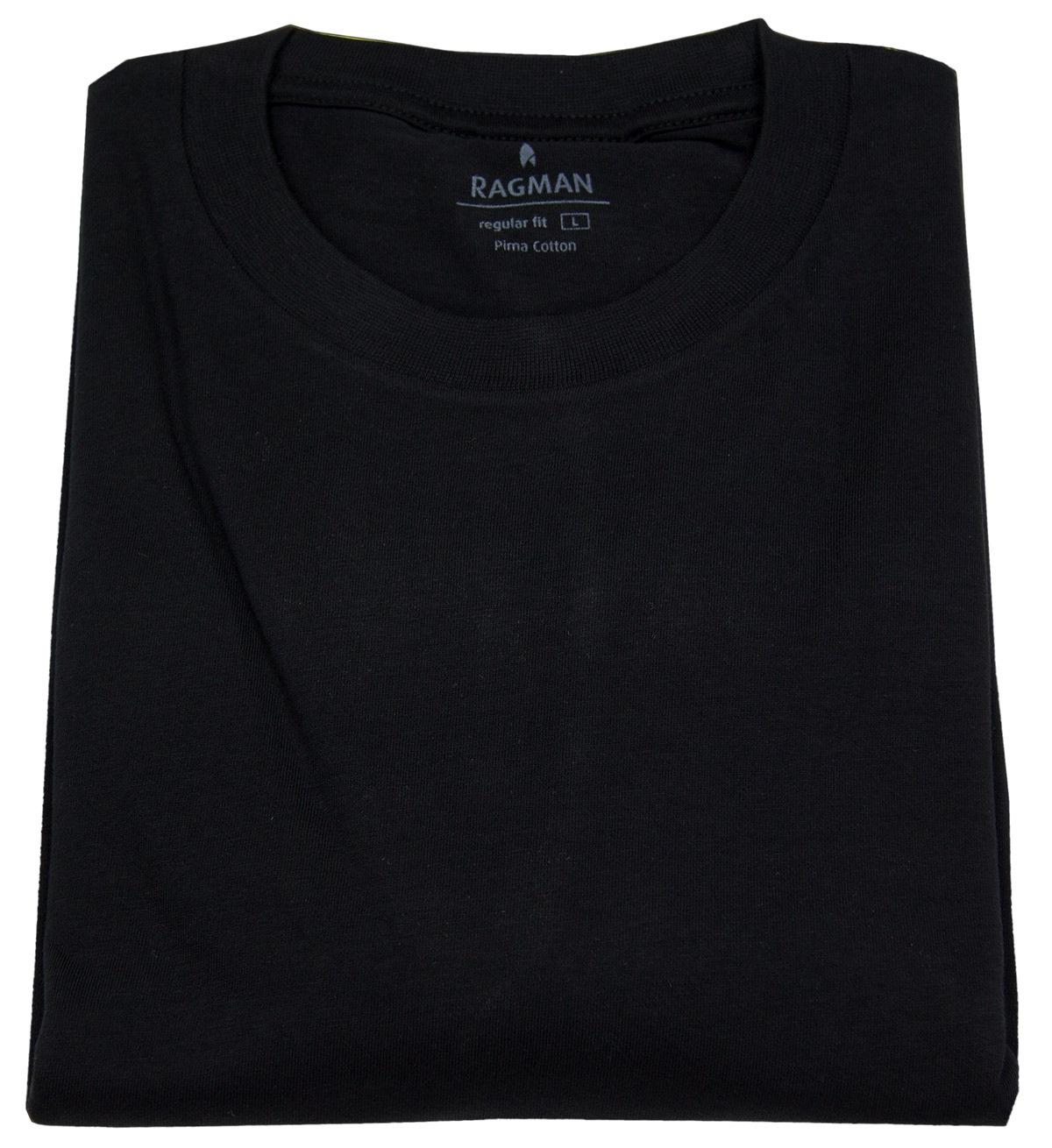 a6bb1fe3fed4cf Ragman T-Shirt Doppelpack - Rundhals - schwarz - 40000 009