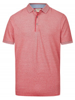 Poloshirt - Level Five Body Fit - Piqué - rot / weiß