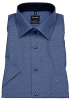 Kurzarmhemd - Luxor Modern Fit - Print - blau