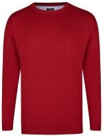 Pullover - Rundhals-Ausschnitt - rot