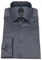 Hemd - Luxor Modern Fit - Muster - grau / schwarz