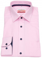 Hemd - Modern Fit - Patch - Kontrastknöpfe - rosé