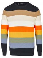 Pullover - Regular Fit - Rundhals - Bio-Baumwolle - mehrfarbig