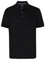 Poloshirt - Casual Fit - Piqué - schwarz
