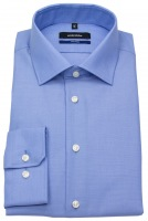 Hemd - Tailored Fit - Fil-a-Fil - blau