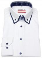 Hemd - Modern Fit - Button Down Kragen - weiß - 69cm Arm