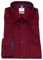 Hemd - Comfort Fit - New Kent - Muster - rot