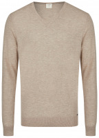 Pullover - Level Five Body Fit - Merinowolle - beige