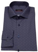 Hemd - Modern Fit - Muster - lila / braun