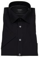 Kurzarmhemd - Modern Fit - Kentkragen - schwarz