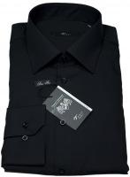 Hemd - Slim Fit - schwarz - extra langer Arm 72cm