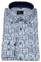 Hemd - Modern Fit - Button Down - Print - mehrfarbig