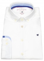Hemd - Slim Fit - Button Down - Oxford - weiß
