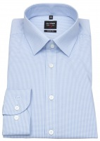 Hemd - Level Five - Body Fit - Vichykaro - blau / weiß