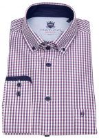 Hemd - Regular Fit - Button Down - rosé / weiß