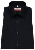 Kurzarmhemd - Modern Fit - schwarz