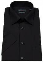 Kurzarmhemd - Regular Fit - Kentkragen - schwarz