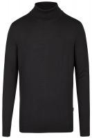 Pullover - Modern Fit - Merinowolle - Rollkragen - schwarz