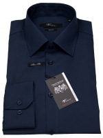 Hemd - Slim Fit - Kentkragen - dunkelblau
