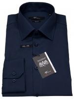 Hemd - Modern Fit - Kentkragen - dunkelblau