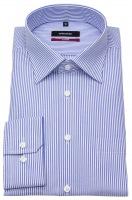 Hemd - Modern Fit - Kentkragen - Streifen - blau / weiß