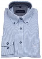 Hemd - Casual Fit - Button Down - blau / weiß - 72cm Arm