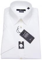 Kurzarmhemd - Body Fit - Kentkragen - weiß