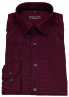 Hemd - Body Fit - Muster - rot / dunkelblau