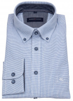 Hemd - Comfort Fit - Button Down Kragen - blau / weiß