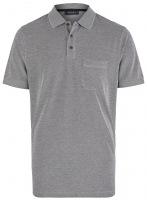 Poloshirt - Regular Fit - Baumwolle - dunkelblau meliert
