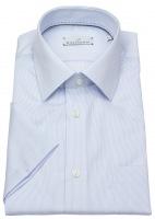 Kurzarmhemd - Modern Fit - Streifen - hellblau / weiß