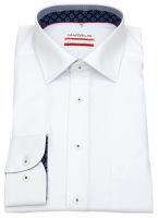 Hemd - Modern Fit - Patch - Kontrastgarn - weiß - 69cm Arm