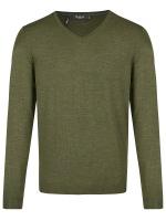 Pullover - Modern Fit - V-Ausschnitt - Camouflage Green