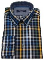 Hemd - Button Down Kragen - mehrfarbig kariert - 72cm Arm