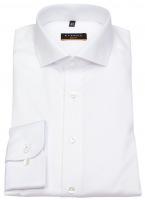 Hemd - Slim Fit - Cover Shirt - blickdicht - weiß - 72cm Arm