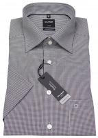 Kurzarmhemd - Luxor Modern Fit - Check - schwarz / weiß