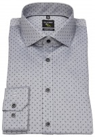 Hemd - No. Six Super Slim Fit - Print - grau / schwarz
