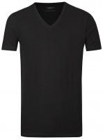 T-Shirt Doppelpack - Body Fit - V-Ausschnitt - schwarz