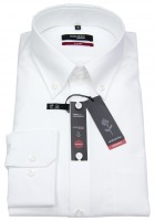 Hemd - Modern Fit - Button-Down Kragen - Fil-a-Fil - weiß