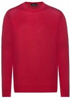 Pullover - Comfort Fit - Rundhals - Merinowolle - rot