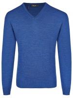 Pullover - Comfort Fit - V-Ausschnitt - Persian Blue