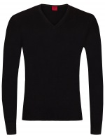 Pullover - Level Five Body Fit - Merinowolle - schwarz