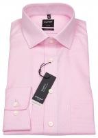 Hemd - Luxor Modern Fit - Faux Uni - rosé / weiß
