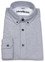 Hemd - Casual Fit - Button Down Kragen - blau