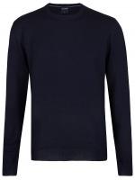 Pullover - Merinowolle - V-Ausschnitt - dunkelblau