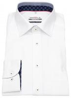 Hemd - Comfort Fit - Patch - Kontrastgarn - weiß