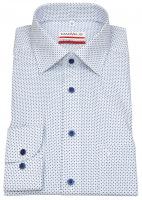 Hemd - Modern Fit - Print -  weiß / dunkelblau / hellblau