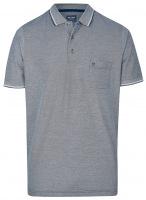 Poloshirt - Casual Fit - Piqué - dunkelblau / weiß