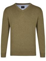 Pullover - Merinowolle - V-Ausschnitt - beige
